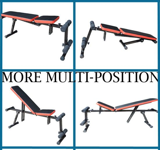 Adjustable Multi use Multi Position Dumbbell Chair Utility Fitness