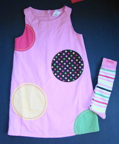 NWT Gymboree Girl Tea for Two Pink Dot Dress Socks 5 5T