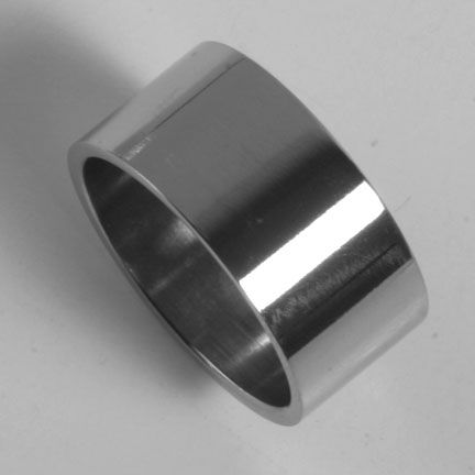 Mens Womens 316L Stainless Steel Rings Plain Bands 11mm